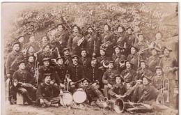 74 BONNEVILLE CARTE PHOTO **Fanfare Du 11 ème Chasseurs Alpins En Manœuvre, Août 1909  ** Photo HERMAN RUSCHE  (3 Scans) - Bonneville