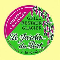 AUTOCOLLANT STICKER LE JARDIN DU PORT - GRILL RESTAURANT GLACIER - PORT-JOINVILLE - ILE D'YEU (3 EXEMPLAIRES) - Stickers
