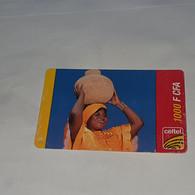 Burkina Faso-(BF-CEL-REF-0003C)-woman With Basket)-(1)--(1000fcfa)-(0570-6961-3600)-used Card+1card Prepiad Free - Burkina Faso