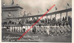 7e Olympiade 1920 Défilé - Danmark Denemarken - Olympic Games Oympics - Photo Carte - Foto Kaart - VIIe - Antwerpen - Antwerpen