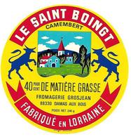 ETIQU. CAMEMBERT LE SAINT BOINGT GROSJEAN Damas Aux Bois Vosges - Cheese