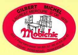 AUTOCOLLANT MOBICHIC - GILBERT MICHEL - LAURÉAT MERCURE D'OR 1978 - 557 RUE PAUL VANCASSEL 59240 ROSENDAEL DUNKERQUE - Autocollants