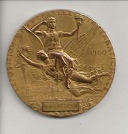"""Médaille En Bronze Graveur Chaplain """" Exposition Universelle Internationale 1900 Paris """" Attribuée Frédéric Brecheisen - Professionals / Firms"""