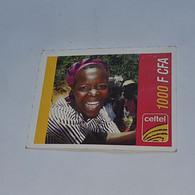 Burkina Faso-(BF-CEL-REF-13/B)-women-(11)-(1000fcfa)-(3020-7118-0097)-used Card - Burkina Faso