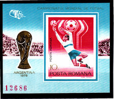 Soccer World Cup 1978 - Football - SPACE - ROMANA - S/S Imp. MNH - 1978 – Argentine