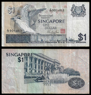 SINGAPORE BANKNOTE - 1 DOLLAR 1976 P#9 F/VF (NT#03) - Singapore