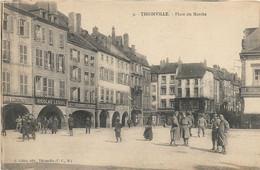 57 Thionville, Place Du Marché Animée - Thionville