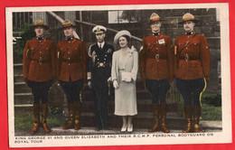 CANADA   KING GEORGE VI + QUEEN ELIZABETH + RCMP BODYGUARD ON TOUR - Unclassified