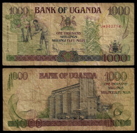 UGANDA BANKNOTE - 1000 SHILLINGS 2000 P#39a F (NT#03) - Uganda