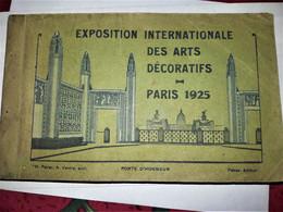 Exposition Internationale Des Arts Décoratifs Paris 1925 - Carnet De 20 CPA  (complet) - Mostre