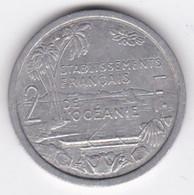 Etablissements Française De L'Océanie. Union Française. 2 Francs 1949, En Aluminium - Polynésie Française