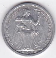 Nouvelle-Calédonie – Union Française. 2 Francs 1949. Aluminium - New Caledonia