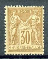 80 - 30c Brun Sage Type II (N/U) - Neuf N* - Très Beau. - 1876-1898 Sage (Tipo II)