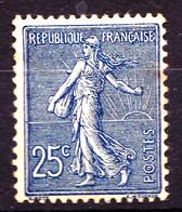 132a - 25c Bleu Foncé Semeuse Lignée - Neuf N* - Très Beau - 1903-60 Säerin, Untergrund Schraffiert