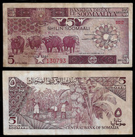 SOMALIA BANKNOTE 5 SHILLINGS 1986 P#31b VF (NT#03) - Somalia