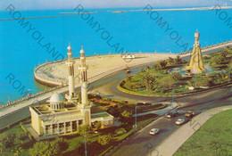 CARTOLINA  ABUDHABI,EMIRATE ARABI UNITI,AN AERIAL VIEW OF KALID MOSQUE AND CLOCK TOWER,VIAGGIATA1993 - United Arab Emirates