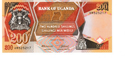 Uganda P.32a 200 Shillings 1987  Unc - Uganda