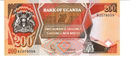 Uganda P.32b 200 Shillings 1991  Unc - Uganda