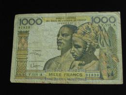COTE D'IVOIRE - 1000 Francs Sans Date - Banque Centrale Des états De L'Afrique De L'ouest  **** EN  ACHAT IMMEDIAT  **** - Côte D'Ivoire