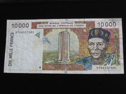 COTE D'IVOIRE 10 000 Francs 1996 - Banque Centrale Des états De L'Afrique De L'ouest  **** EN  ACHAT IMMEDIAT  **** - Côte D'Ivoire