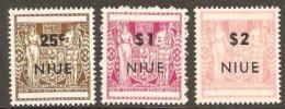 Niue   1967 SG  135,7,8  Overprints   Unmounted Mint - Niue