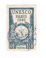 Timbre Perforé SM Société Marseillaise Sur Unesco 1946 Yvert 771 - Perfins