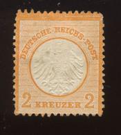 8.(*) Klein Brustschild  2 Kreutzer Mit 2 Dun Spots COTE 400,-Ø Oder 800,- Mit Gummi - Neufs