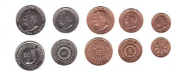Turkmenistan - Set 5 Coins 1 5 10 20 50 Tenge 1993 AUNC Lemberg-Zp - Turkmenistan