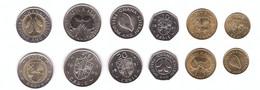 Ghana - Set 6 Coins 1 5 10 20 50 100 Cedis 1984 - 1999 UNC Lemberg-Zp - Ghana