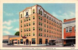 Louisiana Lafayette The Evangeline Hotel Curteich - Other