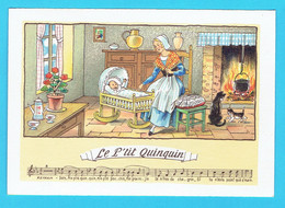 Chanson Illustrée , Le Petit Quinquin , édition Barré Dayez , Texte Complet De La Chanson Au Verso - Unclassified
