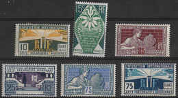France 1924 - 1925  Lot 6 Timbres Neufs ** - N° Yvert  210 à 215 - C. 60€ - Unused Stamps