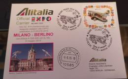 2015 ALITALIA OFFICIAL CARRIER EXPO 2015 - MILANO BERLINO - 1946-....: Modern Era