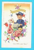 CP Une Lettre Pour Vous -Bonne Année  Facteur Enfant - Découpis - édition IDA - Children's Drawings