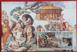VATICANO VATIKAN VATICAN 1994 MAXIMUM CARD CAPPELLA SISTINA MICHELANGELO BUONARROTI DILUVIO UNIVERSALE - Briefe U. Dokumente