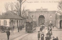 56 Lorient La Porte Et La Place Du Morbihan Tram Tramway Byrrh - Lorient