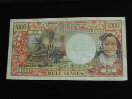 1000 Mille Francs 1974-1978 - PAPEETE - Institut D'émission D'outre Mer  **** EN ACHAT IMMEDIAT **** - Papeete (French Polynesia 1914-1985)