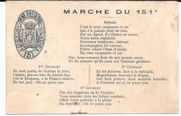 Cpa  Marche Du 151 ème  R.I. Verdun. - Guerra 1914-18