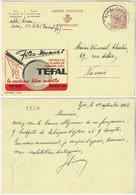 Belgium 1966 Postal Stationery Card Publibel No 2143 Mother's Day Frying Pan Tefal Bomal-sur-Ourthe To Namur Gift Rose - Día De La Madre