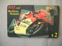 6908 Télécarte Collection  MOTO  MAX And MARLBORO HELMETS   (scans Recto Verso)  Carte Téléphonique HONDA - Moto