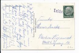 DR  516 EF - 6 Pf Hindenb. Med. Ansichtskarte M. PH-Stempel Teschen (Oberschl.)  Nach Berlin - Storia Postale