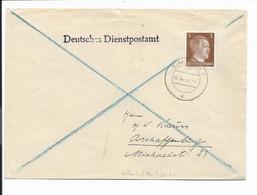 DR  782 EF - 3 Pf Hitler Brief Dt. Dienstpost M. Stempel Bialystok Ostland 1941 Nach Aschaffenburg - Lettres & Documents