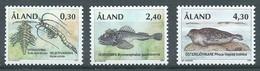 Aland YT N°120/122 Animaux Vestiges De La Période Glaciaire Neuf ** - Aland