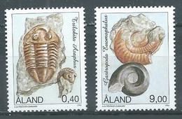 Aland YT N°118/119 Fossiles Neuf ** - Aland
