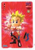 CARTE QUO PREPAID JAPON SEGA KIDS 1996 - Giochi