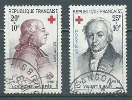 France YT N°1226/1227 Croix-Rouge 1959 Oblitéré ° - Gebraucht