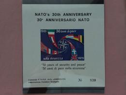 REPUBBLICA - Erinnofili - 30° Anniversario NATO - Foglietto Nuovo + Spese Postali - Cinderellas