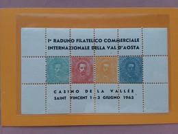 REPUBBLICA - Erinnofili - 1° Raduno Filatelico Internazionale St. Vincent 1963 - Nuovo ** + Spese Postali - Cinderellas
