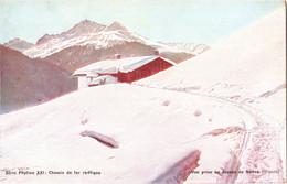 CPA Suisse (Grisons) - Chemin De Fer Rhétique. Vue Prise Au-dessus De Davos, Pub Phytine XXI TBE Couleur - Treinen