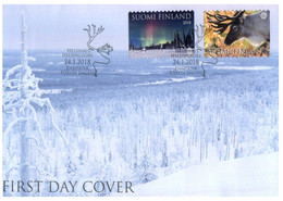 (LL 23) Suomi - Finland FDC Cover - 2018 - Midnigh Or Boreal Sun & Reindeer - FDC